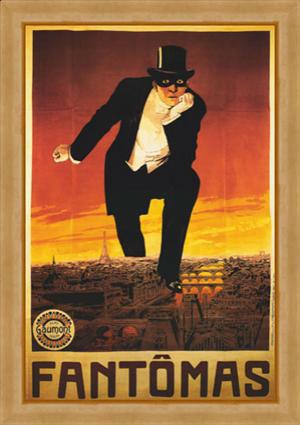 Cartaz de filme inspirado em um dos livros com o personagem Fantômas