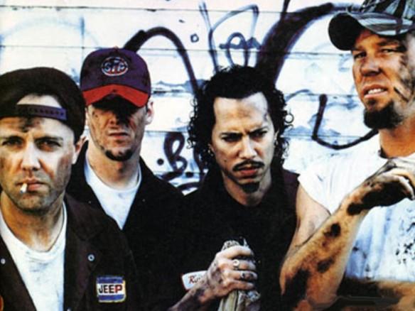 """Metallica em 1998, época do Garage Inc.: """"Whiskey in the Jar"""", canção tradicional irlandesa, atravessou gerações e veio parar no disco-tributo da banda às suas influências"""