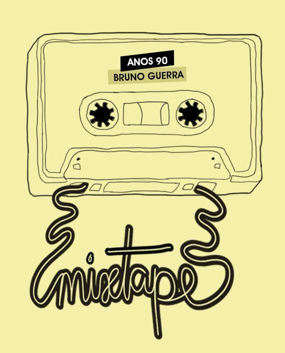"""Capa da Friday Mixtape Anos 90: em minha segunda contribuição """"musicológica"""" para o blog """"Achados da Bia"""", fui incumbido de explorar a marcante e divertida década de 1990"""